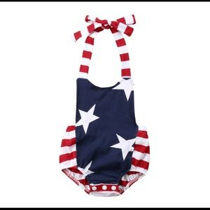 Other - Baby Girl 4th of July Romper